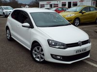 2014 VOLKSWAGEN POLO 1.2 MATCH EDITION 5d 59 BHP £7850.00