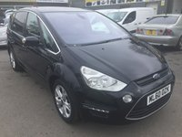 2010 FORD S-MAX 2.0 TITANIUM TDCI 5 DOOR 161 BHP IN BLACK WITH ONLY 36000 MILES £9490.00