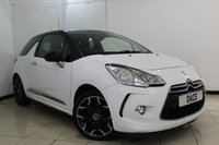 USED 2011 61 CITROEN DS3 1.6 E-HDI DSTYLE PLUS 3DR 90 BHP CITROEN SERVICE HISTORY + CRUISE CONTROL + PARKING SENSOR + AIR CONDITIONING + RADIO/CD + 17 INCH ALLOY WHEELS