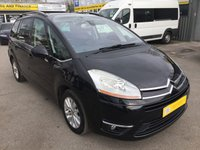 USED 2008 58 CITROEN C4 GRAND PICASSO 2.0 EXCLUSIVE HDI EGS 5 DOOR AUTOMATIC 135 BHP IN BLACK WITH SEVEN SEATS APPROVED CARS ARE PLEASED TO OFFER THIS CITROEN C4 GRAND PICASSO 2.0 EXCLUSIVE HDI EGS 5 DOOR AUTOMATIC 135 BHP IN SOLID BLACK WITH BLACK VELOUR CLOTH INTERIOR,THE CARS IN GOOD CONDITION AND IS A SEVEN SEATER,AUTOMATIC WITH A GOOD SPEC AND A FULL SERVICE HISTORY WITH 5 STAMPS IN THE SERVICE BOOK