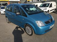 USED 2004 04 VAUXHALL MERIVA 1.6 LIFE 8V 5d 87 BHP IN MET BLUE WITH A LONG MOT UNTIL 7/12/18 APPROVED CARS ARE PLEASED TO OFFER THIS VAUXHALL MERIVA 1.6 LIFE 8V 5d 87 BHP IN MET BLUE WITH A LONG MOT UNTIL 7/12/18 THE CARS IN GOOD CONDITION WITH A LONG MOT AND DRIVES VERY WELL BUT DUE TO THE CARS AGE AND MILEAGE IS BEING OFFERED AS A TRADE CLEARANCE CAR WITH MOT.