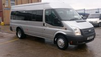 2012 FORD TRANSIT 2.2 430 SHR BUS 17 STR 1d 134 BHP 1 OWNER F/S/H LOW MILES // FREE 12 MONTHS WARRANTY COVER /// £9990.00