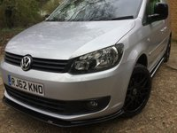 USED 2013 62 VOLKSWAGEN CADDY 1.6 C20 TDI BLUEMOTION AIR CON, BLACK ROOF, CARBON SPILTTERS, BLACK ROOF, CARBON BODYKIT, NEW 18 INCH WHEELS, AIR CON,