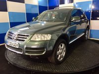 USED 2003 03 VOLKSWAGEN TOUAREG 4.9 V10 TDI 5d 308 BHP A very striking example of this much soughtafter v10 diesel comming fully equipped with all the usual refinements looks and drives superbly,obviously not your normal family saloon this vehicle has a specific market ,ultimate towing machine ,definitely one to view