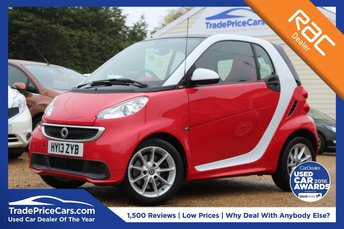 2013 SMART FORTWO 1.0 PASSION 2d 84 BHP £4950.00
