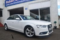USED 2014 14 AUDI A4 2.0 TDI SE 4d 134 BHP LOW MILEAGE A4 IN IBIS WHITE