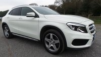 USED 2015 15 MERCEDES-BENZ GLA-CLASS 2.1 GLA220 CDI 4MATIC AMG LINE 5d AUTO 168 BHP WHITE, START STOP, PADDLE SHIFT, HALF LEATHER TRIM, REVERSE CAMERA BLUE-TOOTH, ELECTRONIC BOOT OPEN AND CLOSE, ELECTRIC MIRRORS, AMG ALLOYS, CLIMATE CONTROL, STEERING MOUNTED CONTROLS, ELECTRIC WINDOWS, REMOTE LOCKING, SPORTS SEATS,