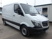 2014 MERCEDES-BENZ SPRINTER 313 CDI SWB HI ROOF, 130 BHP [EURO 5], AIR CONDITIONING, 1 COMPANY OWNER £10995.00