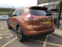 USED 2016 66 NISSAN X-TRAIL 1.6 DCI N-TEC XTRONIC 5d AUTO 130 BHP STUNNING COPPER BLAZE METALLIC PAINT, SEVEN SEATS, CHARCOAL CLOTH INTERIOR, LOW MILEAGE, SERVICE HISTORY, FULL GLASS PANORAMIC GLASS ROOF, SAT NAV, CAMERA, FRONT AND REAR PARKING SENSORS, POWER TAIL GATE, 19 INCH ALLOY WHEELS