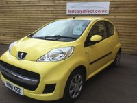 2011 PEUGEOT 107 1.0 URBAN 3d 1 PREVIOUS OWNER  £3499.00