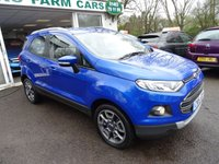 USED 2015 15 FORD ECOSPORT 1.0 TITANIUM X-PACK 5d 124 BHP Private Sale, Low Mileage, Full Ford Service History, MOT until April 2019, One Previous Owner