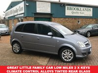 USED 2010 10 VAUXHALL MERIVA 1.4 ACTIVE PLUS 5 Door 90 BHP Lightning Silver Privacy Glass Great Little Family car Low miles Climate Control Alloys Tinted Rear Glass 2 x Keys