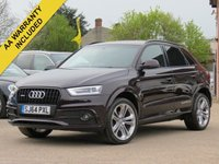USED 2014 64 AUDI Q3 2.0 TDI QUATTRO S LINE PLUS 5d AUTO 177 BHP AUTOMATIC, FULL LEATHER + 19 INCH ALLOYS