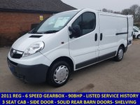 USED 2011 VAUXHALL VIVARO 2700 SWB DIRECT FROM NETWORK RAIL