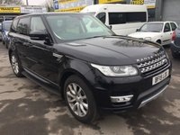 2015 LAND ROVER RANGE ROVER SPORT 3.0 SDV6 HSE 5 DOOR AUTOMATIC 288 BHP IN BLACK WITH 42000 MILES £44000.00