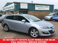 USED 2014 14 VAUXHALL ASTRA 2.0 SRI CDTI S/S 5 Door 163 BHP Flip Chip Silver Met F&R PDC Ex Motability Estate ,Alloy Wheels,Low Miles,Full Vauxhall Service History Book Your Test Drive Today 01536 402161