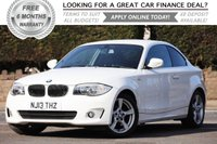 USED 2013 13 BMW 1 SERIES 2.0 118D EXCLUSIVE EDITION 2d 141 BHP +++ FREE 6 months Autoguard Warranty included in screen price +++