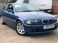 2002 BMW 3 SERIES 2.0 318CI SE 2d AUTO 141 BHP £1500.00