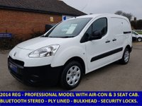 2014 PEUGEOT PARTNER 850 PROFESSIONAL WITH 3 SEATS & AIR-CON £5695.00