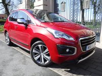 USED 2015 15 PEUGEOT 3008 1.6 E-HDI ALLURE 5d AUTO 115 BHP *** FINANCE & PART EXCHANGE WELCOME *** SAT/NAV REVERSE CAMERA BLUETOOTH PHONE PANORAMIC ROOF HEADS UP DISPLAY