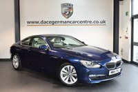 USED 2014 14 BMW 6 SERIES 3.0 640D SE 2DR AUTO 309 BHP + FULL CREAM LEATHER INTERIOR + FULL BMW SERVICE HISTORY + 1 OWNER FROM NEW + PRO SATELLITE NAVIGATION + PANORAMIC SUNROOF + BLUETOOTH + HEATED SPORT SEATS + REVERSE CAMERA + LANE-CHANGE WARNING + HIFI SPEAKER SYSTEM + DAB RADIO + PARKING SENSORS + 18 INCH ALLOY WHEELS +