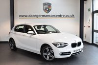 USED 2014 64 BMW 1 SERIES 2.0 116D SPORT 5DR 114 BHP + BLUETOOTH + SPORT SEATS + DAB RADIO + RAIN SENSORS + 17 INCH ALLOY WHEELS +