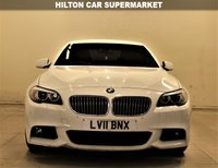 USED 2011 11 BMW 5 SERIES 2.0 520D M SPORT 4d 181 BHP +  SAT NAV + AIR CON + SERVICE HISTORY +  LEATHER SEATS