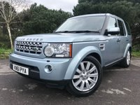 USED 2011 61 LAND ROVER DISCOVERY 3.0 4 SDV6 HSE 5d AUTO 255 BHP FACELIFT CAR WITH 8 SPEED AUTO GEARBOX IN EXCELLENT CONDITION SILVER WITH BLACK LEATHER