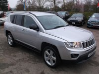 2011 JEEP COMPASS 2.1 CRD LIMITED 4WD 5d 161 BHP £7500.00