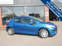 USED 2009 09 PEUGEOT 207 1.4 S 5d 95 BHP AIR CONDITIONING+12 MONTHS MOT, REMOTE CENTRAL LOCKING, 2 KEYS