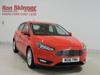 USED 2016 16 FORD FOCUS 1.0 ZETEC 5d AUTO 124 BHP HATCHBACK