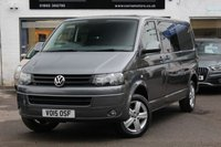 USED 2015 15 VOLKSWAGEN TRANSPORTER T5 2.0 TDI 140ps 6 Speed Manual LWB Kombi Highline T32 5 SEAT KOMBI ** LWB ** 140PS 6 SPEED ** AIRCON ** PARK AID ** CRUISE ** BLUETOOTH