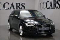 USED 2014 14 AUDI A3 1.4 TFSI S LINE 3d 124 BHP BLACK HALF LEATHER S-LINE EMBOSSED SPORTS SEATS, LEATHER FLAT BOTTOMED MULTI-FUNCTION STEERING WHEEL, BLUETOOTH TELEPHONE CONNECTIVITY, 18 INCH ALLOY WHEELS, DUAL ZONE CLIMATE CONTROL, DAB RADIO, PRIVACY GLASS