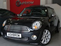 USED 2008 08 MINI HATCH ONE 1.4 ONE 3d 95 S/S PANORAMIC SUNROOF, FULL BLACK LEATHER WITH CREAM PIPING, 17 INCH 8 SPOKE ALLOY WHEELS, AIR CONDITIONING, SILVER DOOR MIRRORS, MANUAL 6 SPEED GEARBOX, START STOP TECHNOLOGY, FRONT FOG LIGHTS, TINTED GLASS, LEATHER STEERING WHEEL, DSC TRACTION CONTROL, CENTRAL REV COUNTER, TRIP COMPUTER, BMW BOOST CD HIFI, AUX INPUT, AUTO DIMMING REAR VIEW MIRROR, ILLUMINATING VANITY MIRRORS. 2 OWNERS FROM NEW, SERVICE HISTORY, HPI CLEAR, PART EXCHANGE TO CLEAR