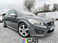 USED 2010 10 VOLVO C30 1.6 D DRIVE R-DESIGN 3d 109 BHP 2 PREVIOUS OWNERS + LOW MILEAGE + JUST FULLY SERVICED + HALF LEATHERS + DUAL ZONE CRUISE CONTROL + ALLOY WHEELS + MOT DEC 2018 AND MORE!!!