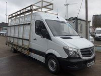 USED 2014 64 MERCEDES-BENZ SPRINTER 313 CDI LWB GLASS CARRIER, 130 BHP [EURO 5], 1 COMPANY OWNER