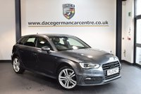 USED 2013 13 AUDI A3 2.0 TDI S LINE 5DR 148 BHP + HALF BLACK LEATHER INTERIOR + SATELLITE NAVIGATION + BLUETOOTH + AUDI SERVICE HISTORY + SPORT SEATS + HEATED MIRRORS + AUXILIARY PORT + PARKING SENSORS + 18 INCH ALLOY WHEELS +