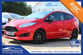 2015 FORD FIESTA 1.0 ZETEC S RED EDITION 3d 139 BHP £9150.00