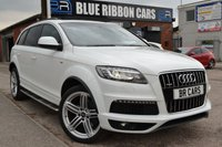 USED 2015 15 AUDI Q7 3.0 TDI QUATTRO S LINE PLUS S/S 5d AUTO MASSIVE SPEC LIST, PAN ROOF, REAR DVD, KEYLESS