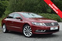 USED 2014 14 VOLKSWAGEN CC 2.0 GT TDI BLUEMOTION TECHNOLOGY 4d 138 BHP 1 OWNER! FULL VW SERVICE HISTORY! VAT QUALIFYING! STUNNING EXAMPLE WITH 4 VW SERVICES! SAT NAV! HEATED SEATS! 2 TONE CREAM AND BLACK LEATHER!