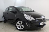 USED 2012 12 VAUXHALL CORSA 1.2 ACTIVE 3DR 83 BHP FULL SERVICE HISTORY + HALF LEATHER SEATS + MULTI FUNCTION WHEEL + AUXILIARY PORT + AIR CONDITIONING + 16 INCH ALLOY WHEELS