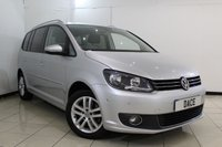 USED 2013 13 VOLKSWAGEN TOURAN 2.0 SE TDI 5DR 142 BHP FULL SERVICE HISTORY + CRUISE CONTROL + PARKING SENSOR + MULTI FUNCTION WHEEL + AIR CONDITIONING + RADIO/CD + AUXILIARY PORT + 16 INCH ALLOY WHEELS