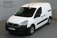 USED 2016 66 PEUGEOT PARTNER 1.6 BLUE HDI PROFESSIONAL 100 BHP SWB LOW ROOF A/C ONE OWNER FROM NEW, MANUFACTURER WARRANTY UNTIL 29/09/2019