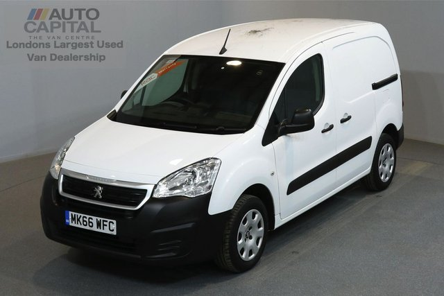 2016 66 PEUGEOT PARTNER 1.6 BLUE HDI PROFESSIONAL 100 BHP SWB LOW ROOF A/C ONE OWNER FROM NEW, MANUFACTURER WARRANTY UNTIL 29/09/2019