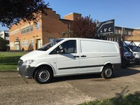 USED 2013 13 MERCEDES-BENZ VITO 2.1 113CDI 136BHP LWB LONG. VERY LOW 48,000 MILES. FSH ONLY 48,000 MILES. NO DEPOSIT FINANCE. PX