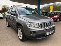 USED 2012 62 JEEP COMPASS 2.4 LIMITED 5d AUTO 168 BHP LOOKING FOR FINANCE? WE STRIVE FOR 94% ACCEPTANCE