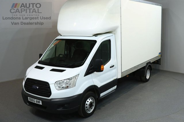 2015 65 FORD TRANSIT 2.2 350 C/C 124 BHP L3 H4 LWB EXTRA HIGH ROOF REAR TAIL LIFT FITTED LUTON VAN  ONE OWNER FROM NEW, SERVICE HISTORY