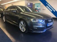 USED 2013 63 AUDI A3 1.4 TFSI S LINE 4d AUTO 139 BHP AUDI PLUS ONE PRIVATE OWNER, FULL SERVICE HISTORY