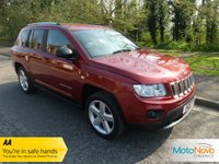 "USED 2011 61 JEEP COMPASS 2.1 CRD LIMITED 2WD 5d 134 BHP Fantastic Doctor Owned Top of the Range Jeep Compass with Full Leather, Air Conditioning, 18"" Alloy Wheels and Service History"