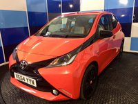 USED 2015 64 TOYOTA AYGO 1.0 VVT-I X-CITE 5d 69 BHP appreciA very clean example of this funky sporty small hatchback idealy suited for first time drivers as very low insurance but also a practical small family car,This car comes equiped with bluetooth ,media interface dab radio ,cruise control,usb /aux plus lots more.The car is finished in the best colour coordination of distinctive orange and black further enhanced with black alloys ,unfortunately this car has sustained some accident damage back in 2016 but the car has been in daily use since .n